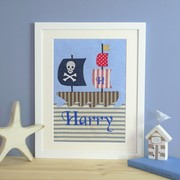 personalised textile picture