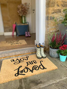 Our newest product, a double meaning in a doormat!