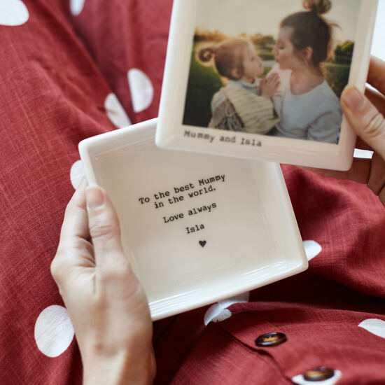 Ceramic photo keepsake box