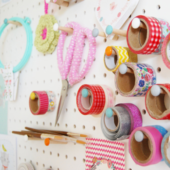Another colourful snippet of the Paper Doily Party Shop workspace!