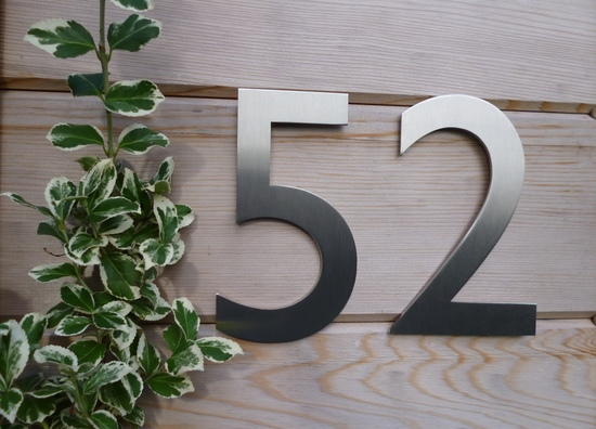 Our Gill Sans house numbers - the best sellers!