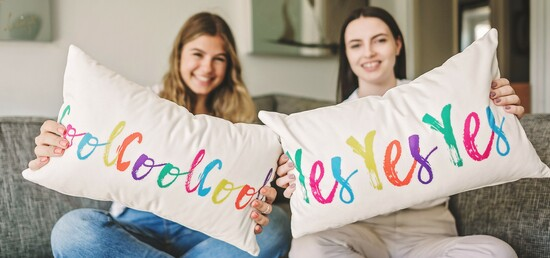 Velvet happy cushions