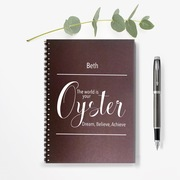 The world is your Oyster Personalised Notebook