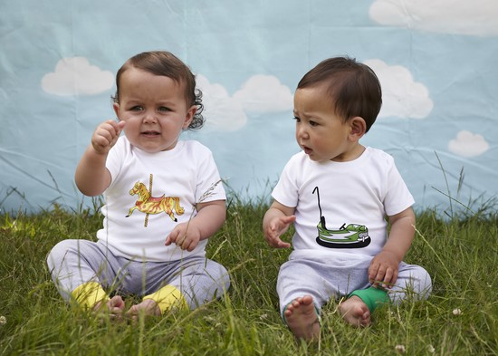 tommy and lottie summer fairground t shirts & baby leggings