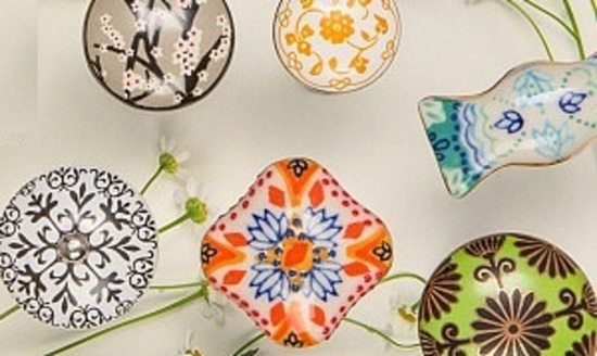 A collection of beautiful Handmade Vintage Knobs and hooks