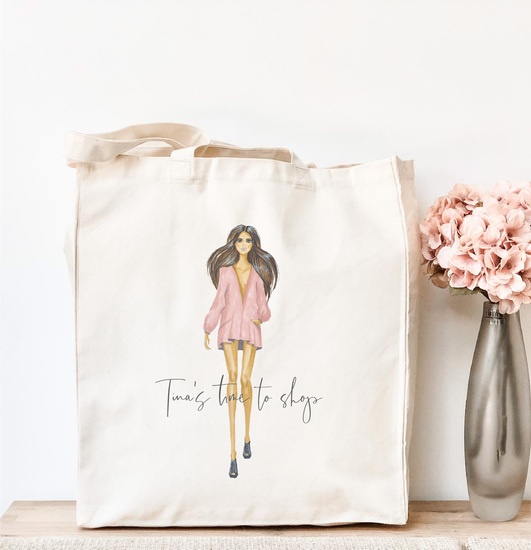 Personalised Time to Shop Tote