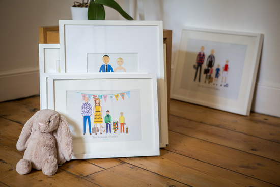 Little Florence personalised custom made family portraits