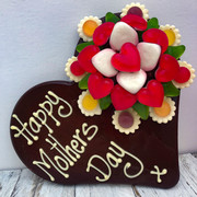 Send Mum Flowers as well as chocolate, all edible!