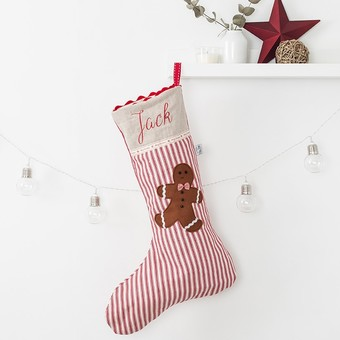 Gingerbread man Christmas stocking