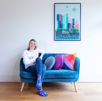 Antipodream founder Kate Millar at home in London