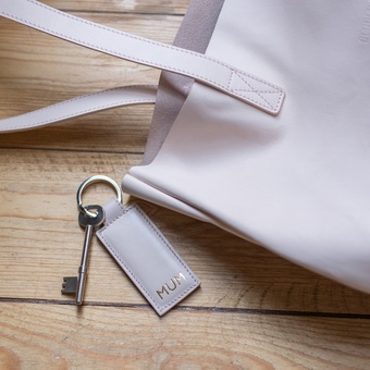 Pink Leather Tote and Key Ring