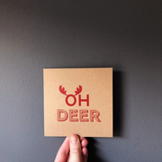 oh deer christmas card