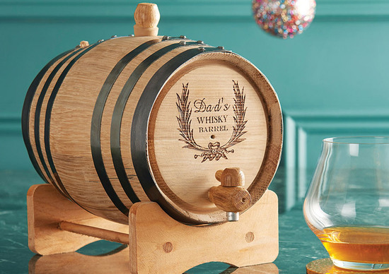Personalised 2 litre Whiskey Barrel