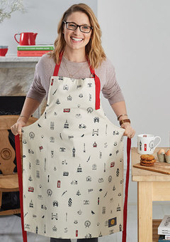 Victoria Eggs London apron, made in Britain.