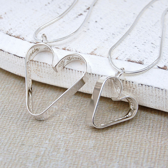 IndiviJewels Secret Heart Necklace Set