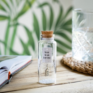 silver charm message bottle