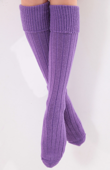 alpaca knee length socks