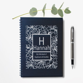 Daydreams and Doodles Personalised Notebook