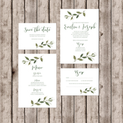 Modern invites with rsvp and inserts