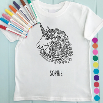 unicorn colour in t shirt
