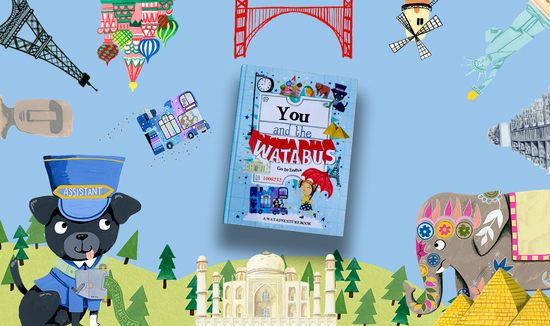 Personalised children's books - create your own adventure around the world, Paris, Moscow, Golden Gate Bridge, Statue of Liberty, Aztec Temple, Taj Mahal.
