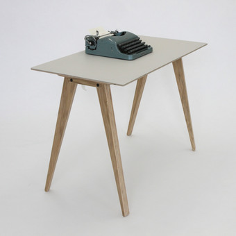 Kobble Desk - Customised Lino and Plywood
