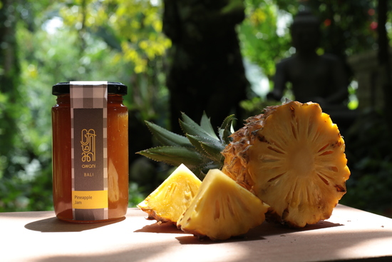 Sweet, succulent juicy pineapple jam with pineapples grown on sun drenched volcanic slopes