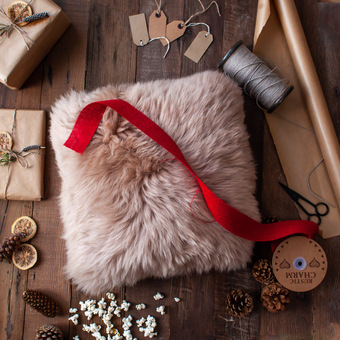 Red Sheepskin Slippers by ONAIE