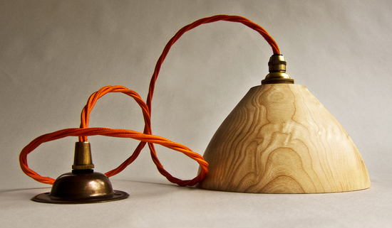 Bell Shade with Orange cable