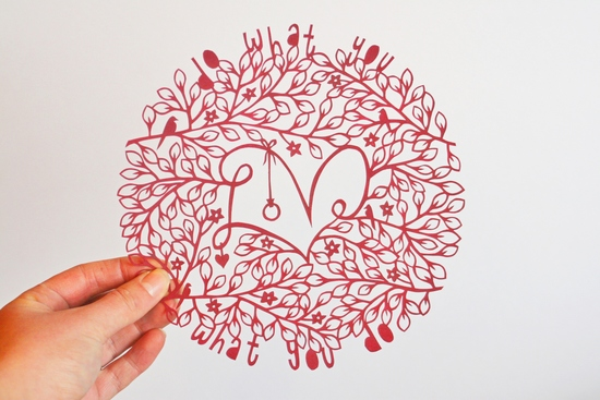 Do what you love, love what you do original papercut design