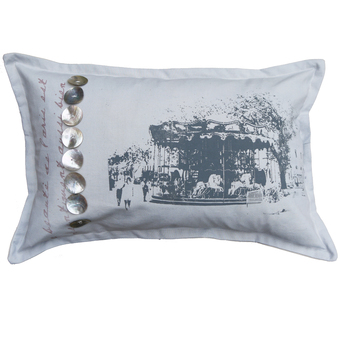 Vintage Paris Carousel Cushion