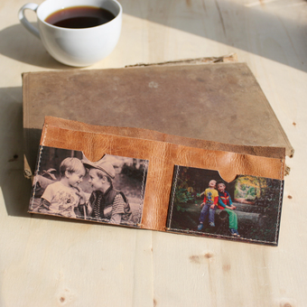 Personalised Mens Leather Covert Photo Wallet