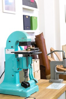 handmade leather embossing machine