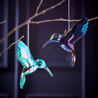 Iridescent Humming Bird Christmas Tree Decoration