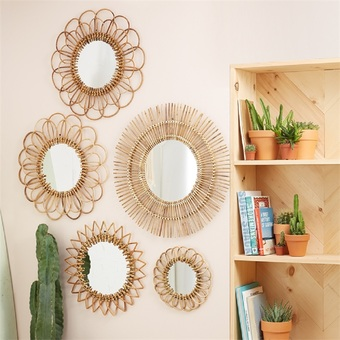 Natural Rattan Wall Mirror
