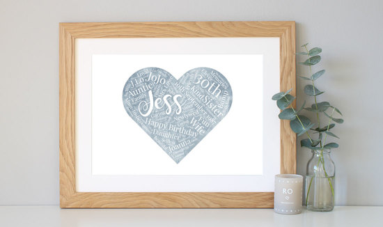 Personalised Watercolour 50th Birthday Gift