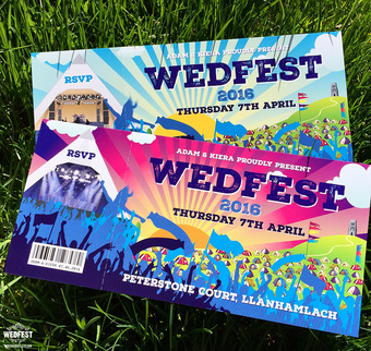 Wedfest Festival Weddings Wedding Invitations