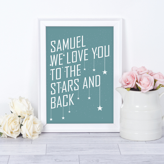 To The Stars Personalised Print
