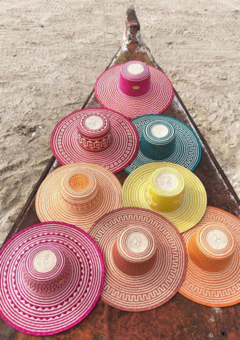 Washein's colourful straw hats