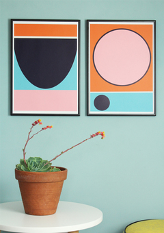 Bold Geometric Shapes Wall Art