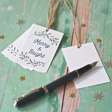 Botanical & Rose Gold Xmas Tags