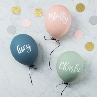 Beautiful personalised balloons