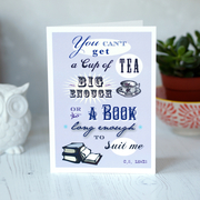 CS Lewis Cup of Tea Books Card