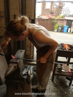 Jen Blacksmithing Photo