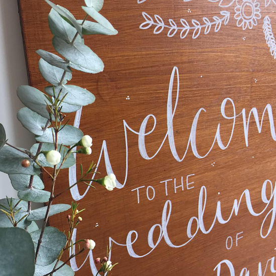 Bespoke Wooden Wedding Sign