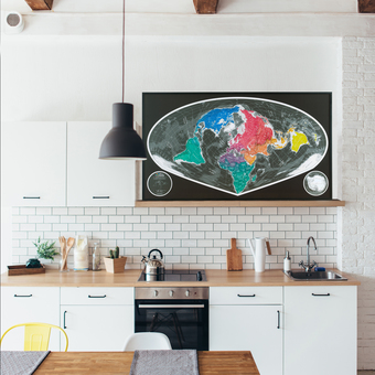 World map as wall art