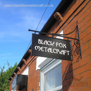 Black Fox Metalcraft Swinging Sign
