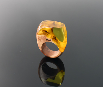 Wood and Resin Ring