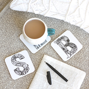 London letter coasters