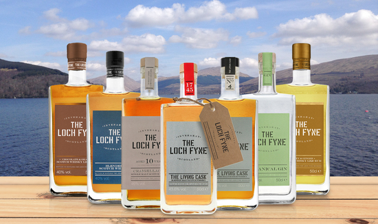 The Loch Fyne range of whisky, gin & liqueurs.